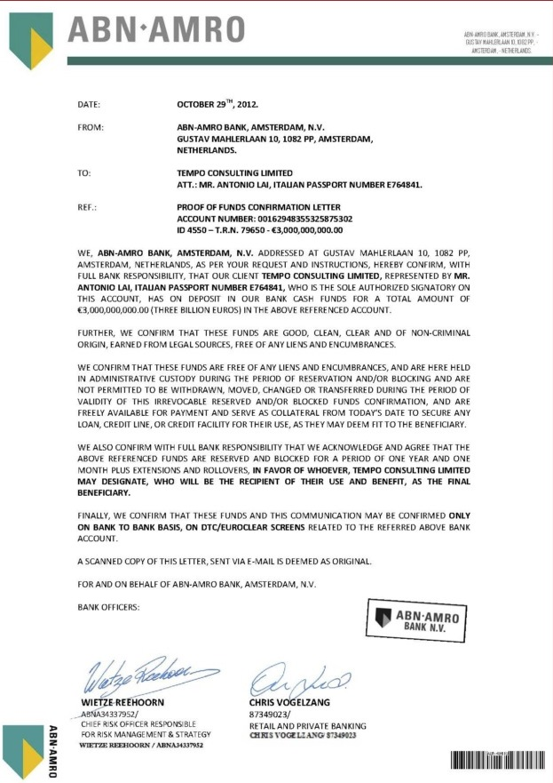 102912 POF Confirmation Letter ID 4550 3B Tempo Consulting