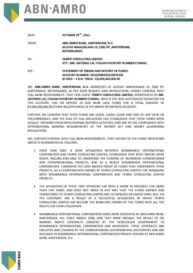 102912 Statement of Origin and History of Funds ID 4550 3B Tempo Consulting Ltd.--01