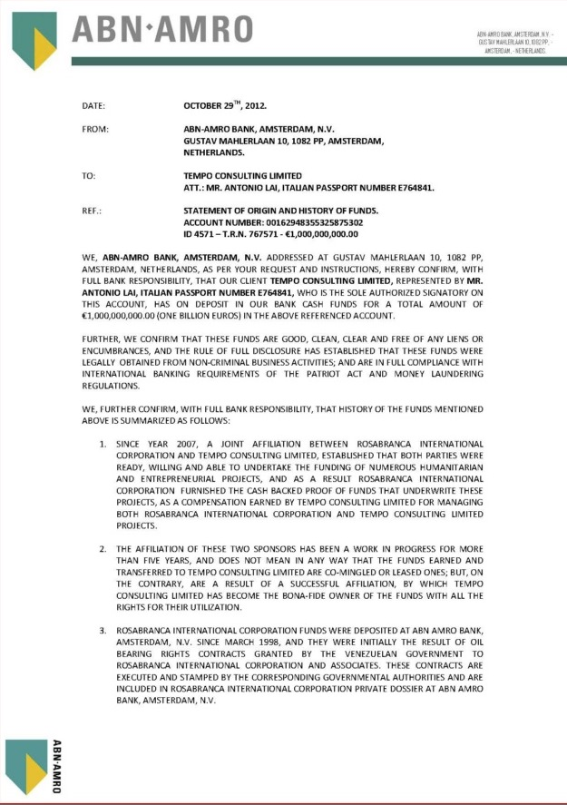 102912 Statement of Origin and History of Funds ID 4571 1B Tempo Consulting Ltd.--- 01
