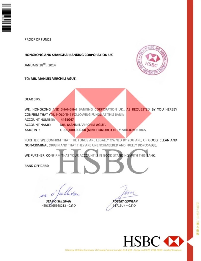PROOF OF FUNDS HSBC BHF59047----01