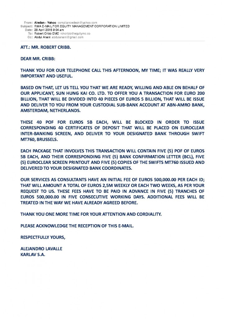 RWA EMAIL FOR EQUITY MANAGEMENT CORPORATION LIMITED